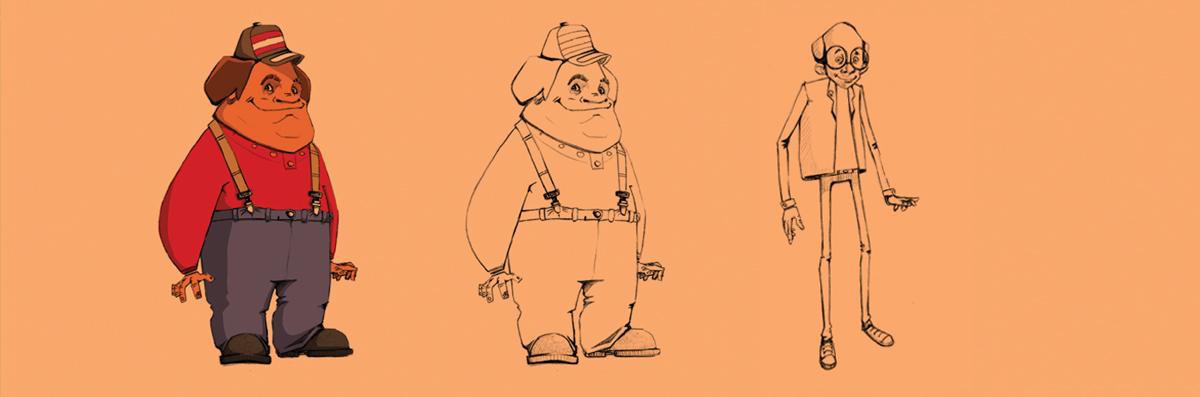 Gas khodro Characters design