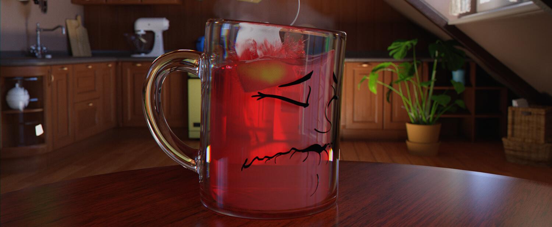 newsha tea company teaser 3D animation